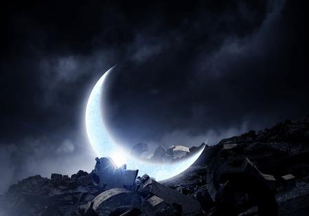 Foto de Moon in sky - Imagen libre de derechos