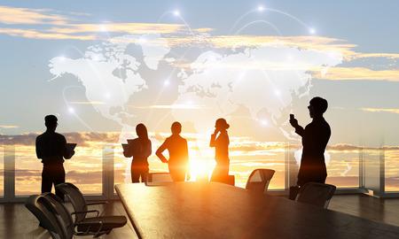 Photo pour Business teamwork concept. Mixed media - image libre de droit