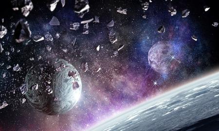 Photo pour Space planets and nebula - image libre de droit