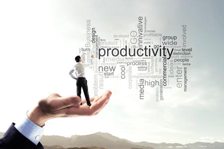 Photo pour Keywords for effective business concept. Mixed media - image libre de droit