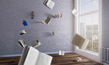 Foto de World of books. Mixed media - Imagen libre de derechos