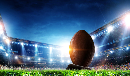 Photo for Full night football arena in lights - Royalty Free Image