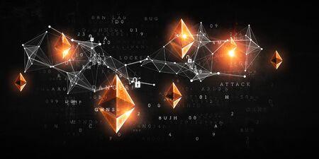 Foto de The essense of crypto currency - Imagen libre de derechos