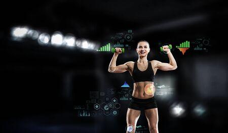 Foto de Technologies for sports. Mixed media - Imagen libre de derechos