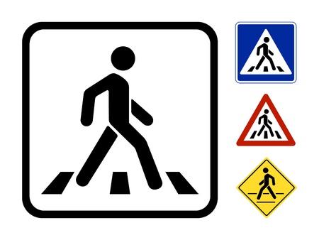 Ilustración de Pedestrian Symbol Vector Illustration isolated on white background - Imagen libre de derechos