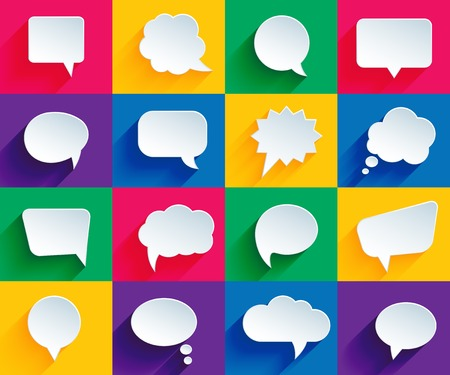 Illustration pour speech bubbles in flat style - image libre de droit