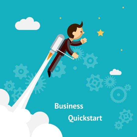 Illustration pour Cartoon Design for Business Growth and Start up - image libre de droit