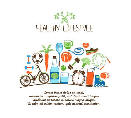 Ilustración de healthy lifestyles - Imagen libre de derechos