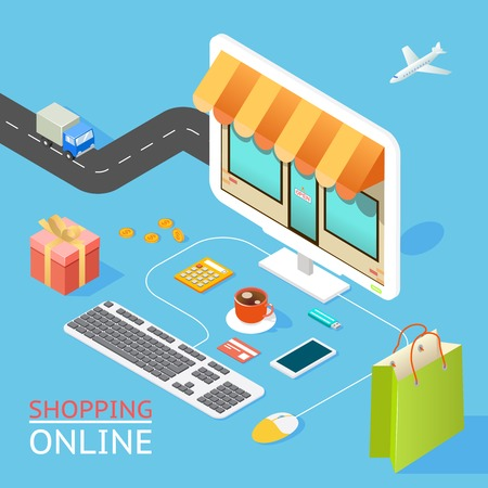 Ilustración de Concept of online shop - Imagen libre de derechos