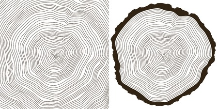 Illustration pour tree rings - image libre de droit