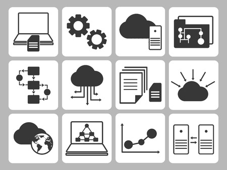 Illustration pour Database Icons Set - image libre de droit