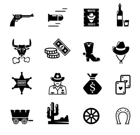 Ilustración de Wild west icons - Imagen libre de derechos