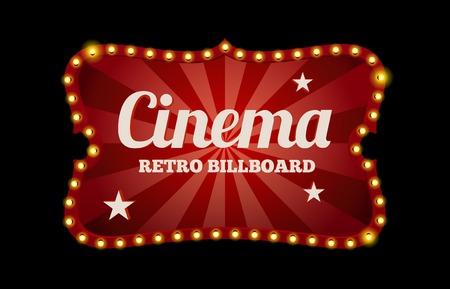 Illustration pour Cinema sign or billboard - image libre de droit