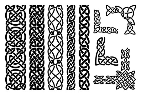 Illustration for Celtic patterns and celtic ornament corners - Royalty Free Image