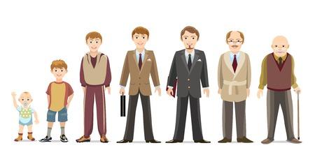 Illustration for Men generations - Royalty Free Image