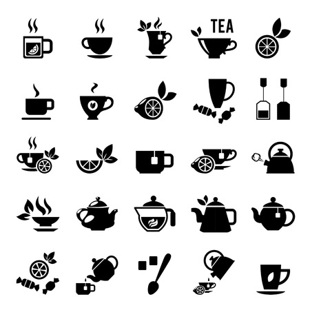 Illustration for Set of tea icons - Royalty Free Image