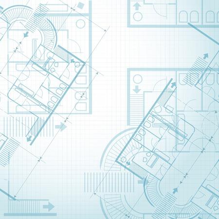 Illustration pour Architectural plan background - image libre de droit