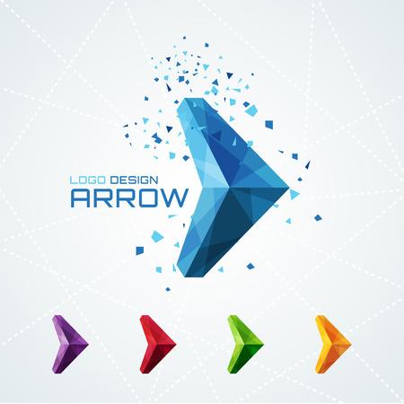 Ilustración de Abstract triangular arrow  - Imagen libre de derechos