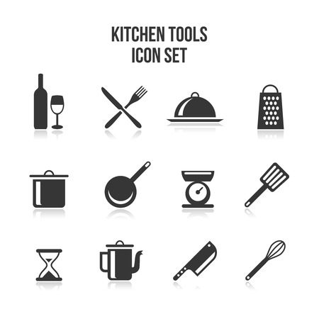 Illustration pour Kitchen and cooking icons - image libre de droit