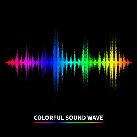 Illustration pour Colorful sound wave background. Equalizer, swing and music. Vector illustration - image libre de droit
