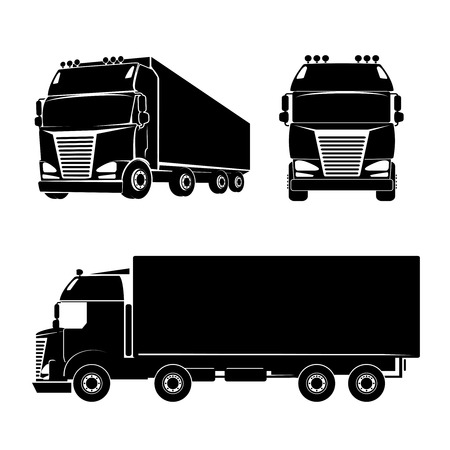 Photo pour Silhouette truck icon - image libre de droit