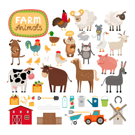 Photo pour Vector farm animals - image libre de droit