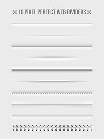 Illustration pour Web dividers design elements - image libre de droit