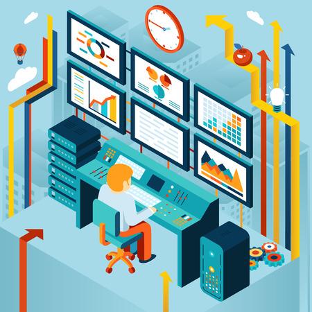 Illustration pour Financial analytics and business analysis - image libre de droit