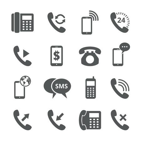 Illustration pour Phone icons - image libre de droit