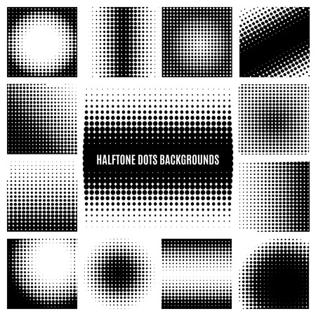 Illustration pour Halftone dots backgrounds - image libre de droit