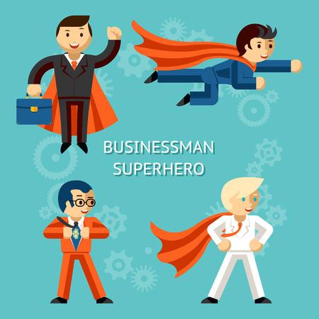 Ilustración de Business superheroes characters - Imagen libre de derechos