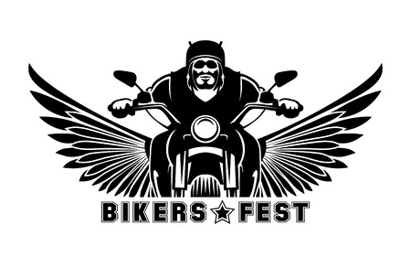 Illustration pour Biker icon illustration  - image libre de droit