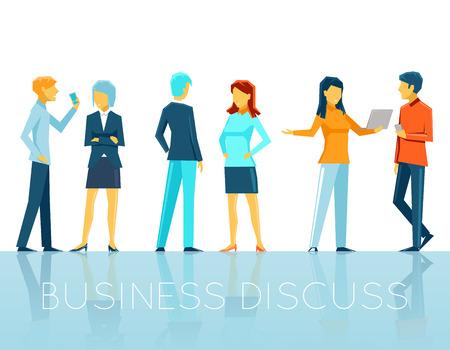 Illustration pour Business people discussing - image libre de droit