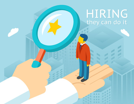 Illustration pour Choosing person for hiring - image libre de droit