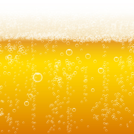 Illustration for Beer foam background, horizontal seamless beer pattern - Royalty Free Image