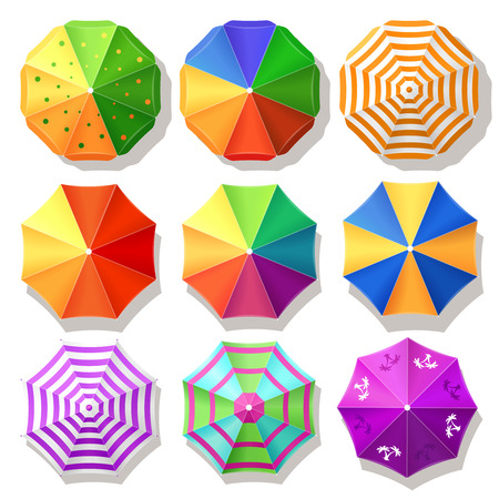 Illustration pour Beach umbrellas - image libre de droit