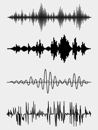 Ilustración de Vector sound waves - Imagen libre de derechos