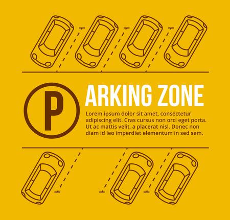 Illustration pour Vector parking lot illustration - image libre de droit