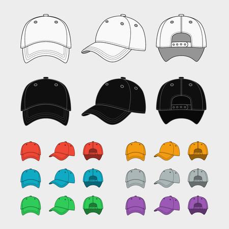 Illustration pour Baseball cap vector template - image libre de droit