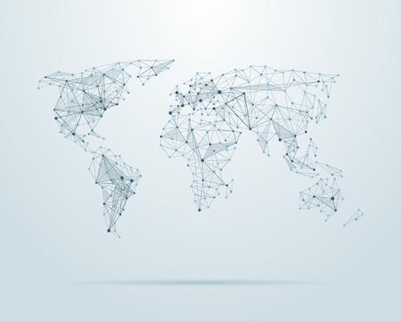 Ilustración de Vector low poly world map illustration - Imagen libre de derechos