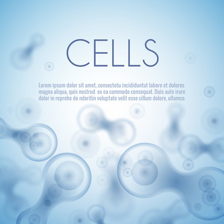 Illustration pour Blue cell background - image libre de droit