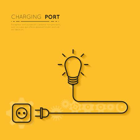 Illustration pour Recharge your creativity. Power for creative ideas - image libre de droit
