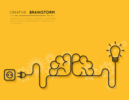 Illustration pour Creative brainstorm concept - image libre de droit