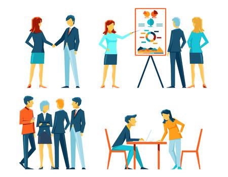 Illustration pour Business people in different poses - image libre de droit
