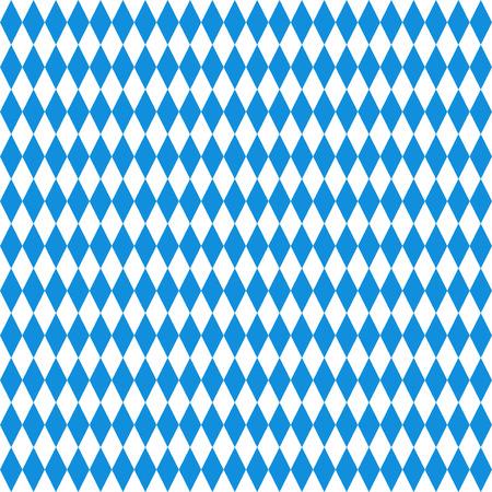 Illustration pour Oktoberfest checkered background. Blue diamonds on white seamless pattern - image libre de droit