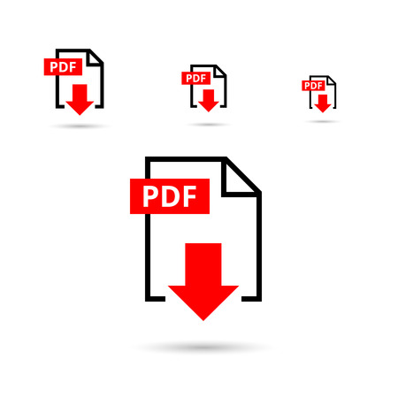 Ilustración de PDF file download icon. Document text, symbol web format information, vector illustration - Imagen libre de derechos