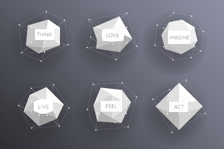 Foto de Abstract low polygonal modern labels. Template creative element. Vector illustration - Imagen libre de derechos