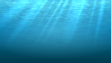 Illustration pour Empty underwater blue shine abstract vector background. Light and bright, clean ocean or sea illustration - image libre de droit