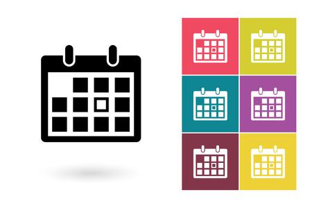 Illustration pour Calendar vector icon. Calendar icon or calendar pictogram for logo with calendar or label with calendar - image libre de droit