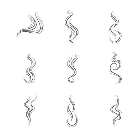 Ilustración de Smoke lines vector set. Smoke line, flow smoke, abstraction smoke smooth illustration - Imagen libre de derechos